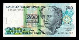 Brasil Brazil 200 Cruzeiros 1990 Pick 225b SC UNC - Brasilien