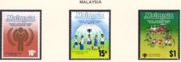 YEAR INTERN. OF CHILD - MALESIA - Mi. Nr. 199/201 - NH - (6532-36.) - Malesia (1964-...)