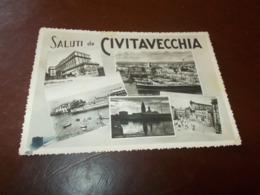 B738  Civitavecchia Vedute Pieghine Angoli E Residui Carta Al Retro - Civitavecchia