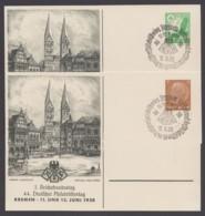 """PP 122 C 89/01, 142 C 36/01 """"Bundestag Bremen"""", 1938, Beide Mit Pass. Sst. - Germany"""