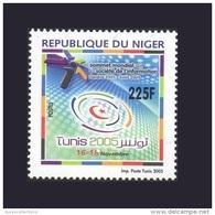 NIGER SOMMET MONDIAL SOCIETE DE L'INFORMATION SOCIETY WORLD SUMMIT GENEVE 2003 TUNIS 2005 MNH ** RARE - Niger (1960-...)