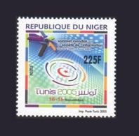 NIGER SOMMET MONDIAL SOCIETE DE L'INFORMATION SOCIETY WORLD SUMMIT GENEVE 2003 TUNIS 2005 MNH ** RARE - Emissions Communes