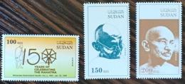 Sudan NEW 2019 MNH - Joint Issue Stamp Set Complete 3v., 150th Of India Mahatma Ghandi - RARE - Sudan (1954-...)