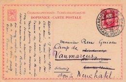 EP Obl KARLOVY VARY * KARLSBAD * Du 17 VII 26 Adressé En Suisse - Entiers Postaux