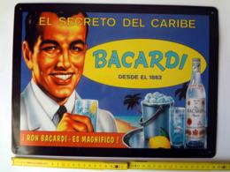 Ron Bacardi 1862 Reklameschild Blechschild Schild EL SECRETO, Sehr Rar! - Alcohols