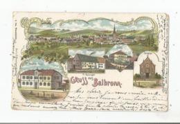 GRUSS AUS BALBRONN (BAS RHIN) 1905 (FR REISSINGER. SYNAGOGE. GASTHAUS Z HIRSCHEN GEMEINDE HAUS. SCHULE) - France
