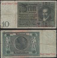 Germany P 180 A - 10 Reichsmark 22.1.1929 - VF - 10 Mark