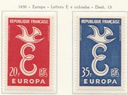 PIA - FRANCIA - 1958 - Europa - (Yv  1173-74) - Europa-CEPT