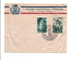 OBLITERATION 1 ER CONGRES INTERNATIONAL MAXIMAPHILE DIJON 1947 - Commemorative Postmarks