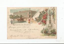RECUERDO DE MADRID 1901 (BANCO DE ESPANA .OBSERVATORIO ASTRONOMICO.MONUMENTO DE COLON) 397 - Madrid