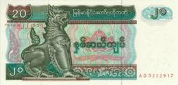 Myanmar 20 Kyat 1994 Pick 72 UNC - Myanmar