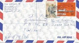 Guyana 1986 Bourda Sir Rowland Hill Overprint 1983 On $3 Scott 598 River Steamer Registered Cover - Guyana (1966-...)