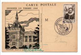 OBLITERATION JOURNEE DU TIMBRE 1946 TOULOUSE - Marcophilie (Lettres)