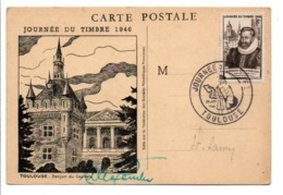 OBLITERATION JOURNEE DU TIMBRE 1946 TOULOUSE - Matasellos Conmemorativos