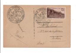 OBLITERATION CONGRES PHILA. ET JUBILE FEDERAL à NIORT 1947 - Commemorative Postmarks