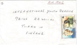Guyana 1984 Longden Park Disabled Helen Keller Overprint 1983 On 50c Scott 589 Cover - Guyana (1966-...)
