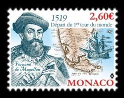 Monaco 2019 Mih. 3468 First World Circumnavigation Of Magellan. Ships MNH ** - Monaco