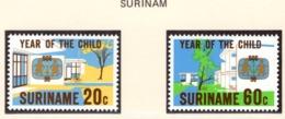 YEAR INTERN. OF CHILD - SURINAME - Mi. Nr. 1040/1043 - NH - (6532-37.) - Suriname