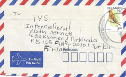 Guyana 1998 New Amsterdam Waxwing Bird $30 Cover - Guyana (1966-...)