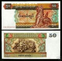 Myanmar 50 Kyat 1997 Pick 73b UNC - Myanmar