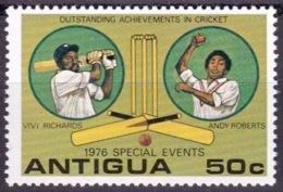 "Antigua 1976: ""VIVI RICARDS & ANDY ROBERTS - OUTSTANDING IN CRICKET"" Michel-No. 450 ** MNH - Cricket"