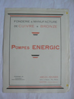 Fonderie & Manufacture De Cuivre & Bronze. Pompes Energic. Abelin-Régnier à Saintes (17). Dépliant De 5 Pages - Frankreich