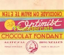 RARE ! ANCIENNE ETIQUETTE EMBALLAGE ETIKET LABEL CHOCOLADE CHOCOLAT RAVICO ALI ALITEX BRUXELLES - Labels