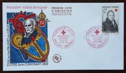 FDC 1964 - YT N°1433 - CROIX ROUGE / JEAN NICOLAS CORVISART - DRICOURT - FDC