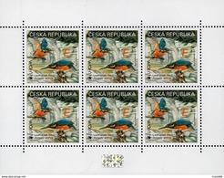 2019 : Le Feuillet De 6 Timbres + Hologramme EUROPA Les Oiseaux : Le Martin Pêcheur - Neufs