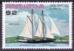"Antigua 1976: ""OPERATION SAIL US-BICENTENNIAL  Sailing-ship FREELANCE"" Michel-No. 452 ** MNH - Us Independence"