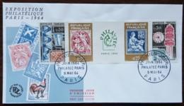 FDC 1964 - YT N°1417A - EXPOSITION PHILATELIQUE PHILATEC - PARIS - FDC