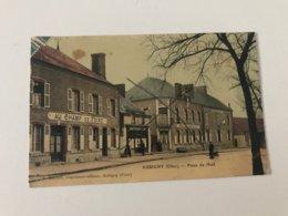 Carte Postale Ancienne (1916) AUBIGNY Place Du Mail - Aubigny Sur Nere