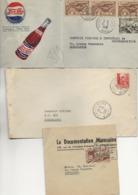 MAROC- LOT DE 8 LETTRES -ANNEE 1950 -1 LETTRE PUB PEPSI COLA + 1 BANDE JOURNAUX. - Maroc (1891-1956)