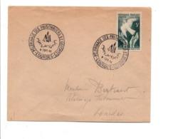 OBLITERATION PELERINAGE DES PRISONNIERS ET DEPORTES à LOURDES 1946 - Marcophilie (Lettres)