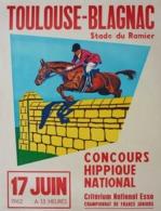 @@@ MAGNET - Toulouse - Blagnac Concours Hippique National 1962 - Advertising