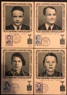 France - Carte Maximum - Médaille De La Résistance - Bingen Cavailles Scamaroni Michel Levy - 1958 - Cartoline Maximum