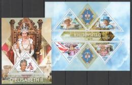 TG701 2013 TOGO TOGOLAISE ROYALS 60TH ANNIVERSARY CORONATION QUEEN ELIZABETH II KB+BL MNH - Familias Reales