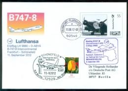 Deutschland 2012 Spezialumschlag Ganzsache Erstflug B747-8 Intercontinental Frankfurt - Berlin (Schönefeld) - Altri