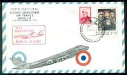 Argentina 1975 Première Liaison Par Air France Boeing 747 Buenos Aires - Paris - Luftpost