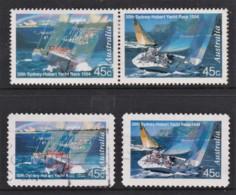 Australia 1994 Sydney To Hobart Yacht Race Set Of 2 Sheet + Self-adhesives Used - 1990-99 Elizabeth II