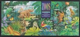 Australia 1994 Zoos Minisheet Used - 1990-99 Elizabeth II
