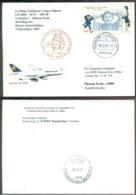 Deutschland 2007 Postkarte Erstflug Lufthansa Cargo Charter B747 Frankfurt - Phnom Penh Kambodscha - Storia Postale