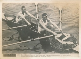 Photo Presse - Paris-Soir - Les Olympiades De Berlin - Les Anglais Beresford Et Southwood - Sports