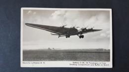 Junkers G38,, Deutsche Lufthansa AG, 34 Passengers 6 Crew, Smoking Compartment And Buffet On Board,  Gelaufen - 1939-1945: 2a Guerra
