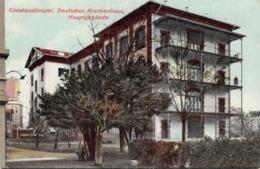 CONSTANTINOPLE - DEUTSCHES KRANKENHAUS HAUPTGEBÄUDE ~ AN OLD POSTCARD #96909 - Turchia