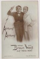 Alfred Braun & Willi Weiss.Ross Edition Nr.1000/1 - Schauspieler