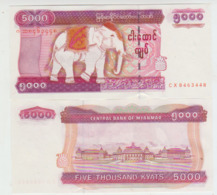 Myanmar 5000 Kyat (2004) Pick 81 UNC - Myanmar