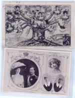 FAMILLE ROYALE BELGIQUE : 1.Roi Albert (non-circulé) 2.Arbre Généalogique De La Dynastie O LIÈGE 27.IV.1911 > St.Gallen - Royal Families
