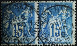Sage N°90 Type Il O.(CAD) MARENNES 19 Déc 1899.( Paire ) - 1876-1898 Sage (Type II)