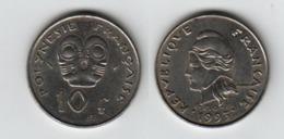 POLYNESIE FRANCAISE  10 Francs 1993  10F  KM#8 - French Polynesia